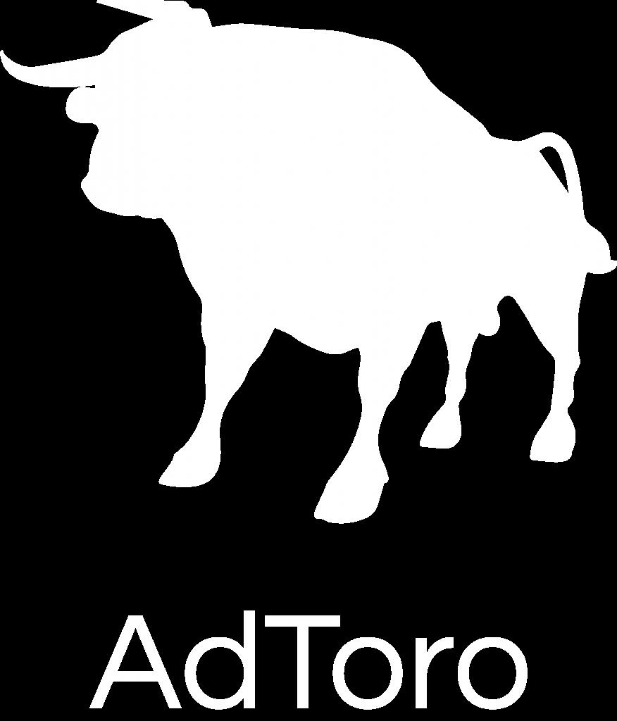 AdToro White Logo